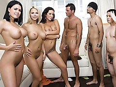 brunette  blonde  big tits  beautiful tits  pussy  face sitting  group  orgy  ffmm  fun Jayden Jaymes  Ashlynn Brooke  Eva Angelina