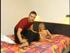 blonde hairy german mature blowjob cumshot