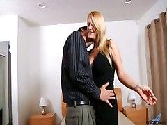 milf blonde big tits blowjob pussy licking cumshot