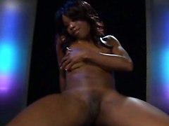ebony brunette dancing ass small tits rubbing teasing dildo toys masturbation hardcore pussy close up riding pov handjob wet cumshot facial