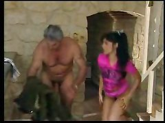 threesome cock riding hardcore blowjob old man
