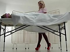 french  european  stockings  doctor  black stockings  blonde  bitch  whore  toy  uniform  role  fat cock  upskirt  beautiful ass  blowjob  facesitting  lingerie  in clothes  rare  decorations  