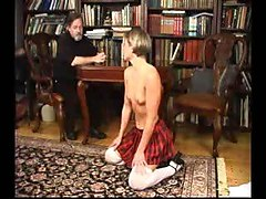 Blonde receives her punishment from