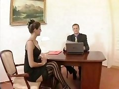 blowjob office sex hardcore stockings ass