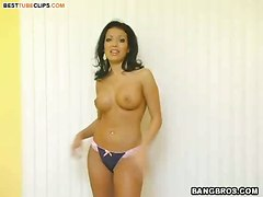 masturbation big boobs fingering pussy strip