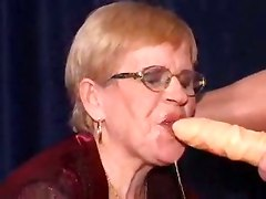 granny threesome anal stockings double penetration