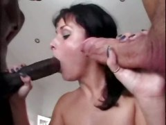 groupsex interracial threesome hardcore blowjob doggystyle big dick brunette tight double penetration riding anal cumshot facial groupsex orgy