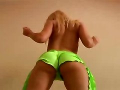 Teasing Blonde Dancing Ass