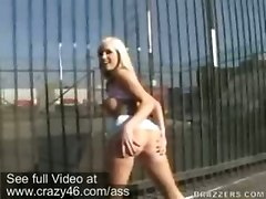 blonde public tattoo ass outdoor pornstar