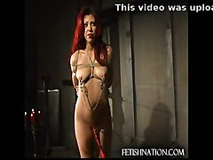 fucked ass slut redhead latex bdsm fetish whore hard bondage