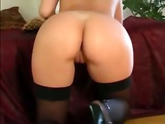 small tits small tits brunette masturbation solo stockings panties lingerie fingering