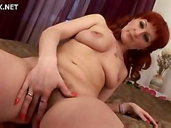 hardcore creampie blowjob redhead hairypussy pussyfucking granny
