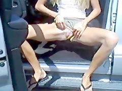 Blondes Flashing Public Nudity