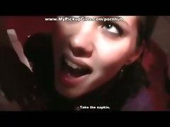brunette blowjob cumshot outdoor amateur teen euro