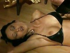Black Latex Girl Tempts Guy For Hard Fucking