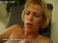 blonde mature masturbation solo