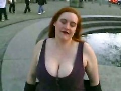 red head fat bbw large ladies lingerie outdoor public chubby teasing striptease big tits piercing stockings masturbation big ass close up rubbing solo pornstar amateur homemade