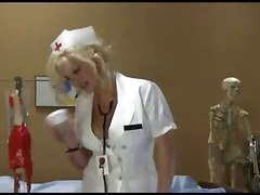 nurse blonde reality big tits blowjob handjob cumshot