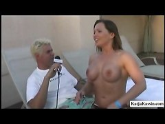 outdoors big tits handjob interview