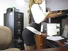 office sex  tease  mini skirt  bathroom sex  bathroom  stockings  harder  moan  emotional  from behind  cock ride  ass  beautiful ass Ryder Skye