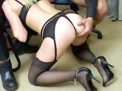 lingerie panties stockings blonde european teasing kissing groupsex ass blowjob handjob big tits pornstar spanking tattoo office reality