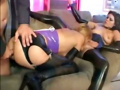 threesome blowjob latex anal fetish ass to mouth pussy licking rimjob deepthroat