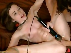 lesbian bdsm shocking twist electricity whipping s