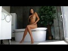 solo girl naked girl tits pussy brunette