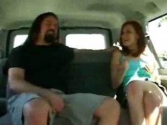 cumshot facial hardcore blowjob redhead pussylicking vehicle van pussyfucking