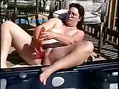 masturbation solo dildo toys outdoor public brunette chubby masturbation fingering amateur homemade