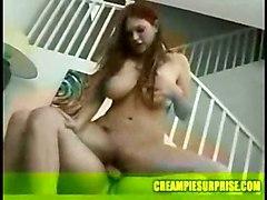 creampie milf blowjob brunette oral surprise cumonpussy compilation internal collection