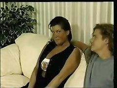 latex big tits blowjob