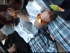Schoolgirl molested on public Bus Part 1 asian street meat