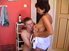 mom bangs sex son licking