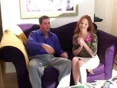 reality red head couch tight ass small tits pussy handjob blowjob deepthroat riding spanking doggystyle cumshot kissing close up ass licking outdoor panties