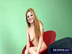 teen redhead vibrator masturbation solo sextoys