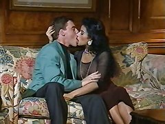 retro classic vintage couch couple kissing lingerie pussy rubbing panties natural ebony blowjob deepthroat hardcore anal riding doggystyle cumshot