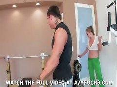 big tits natural tits blonde milf workout mom ass cumshot