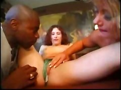 interracial threesome brunette blonde kissing pussylicking panties big dick blowjob handjob deepthroat gagging ass licking spanking fingering doggystyle anal fetish toys european vintage retro classic