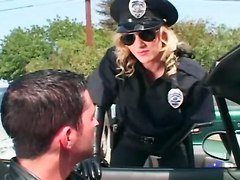 Kinky Female Cop Molesting A Guy
