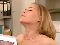 Pretty girl fucked hard in the office
