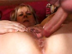 mature stockings couch blonde rubbing big tits natural chubby bbw tattoo riding doggystyle fingering blowjob anal cumshot rough sex
