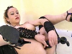 sex toys anal balls masturbation asshole titty
