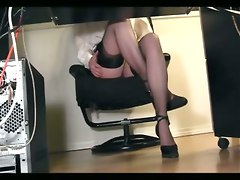 compilation secretary office masturbating underdesk spycam hiddencam