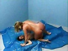 cumshot blonde milf blowjob oil bigtits titlicking pussylicking pussyfucking oiledbody wrestling ballslicking bendover