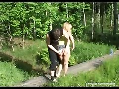 outdoor sex hot blonde pussy big dick blowjob