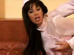 stockings cumshot hardcore brunette pussytomouth pussyfucking maid