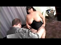 bbw large handjob fat cumshot tits stockings chastity femdom malesub domination humiliation masturbation