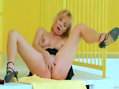 blonde solo europe ass fingering tight teasing milf masturbation pornstar