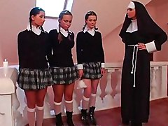 schoolgirl  uniform  nun  monastery  group  lesbian  mini  mini skirt  skirt  clothes off  panties off  panties  teen  teen sex  domination  lingerie  stockings  piercing  dildo  strapon  pigtails